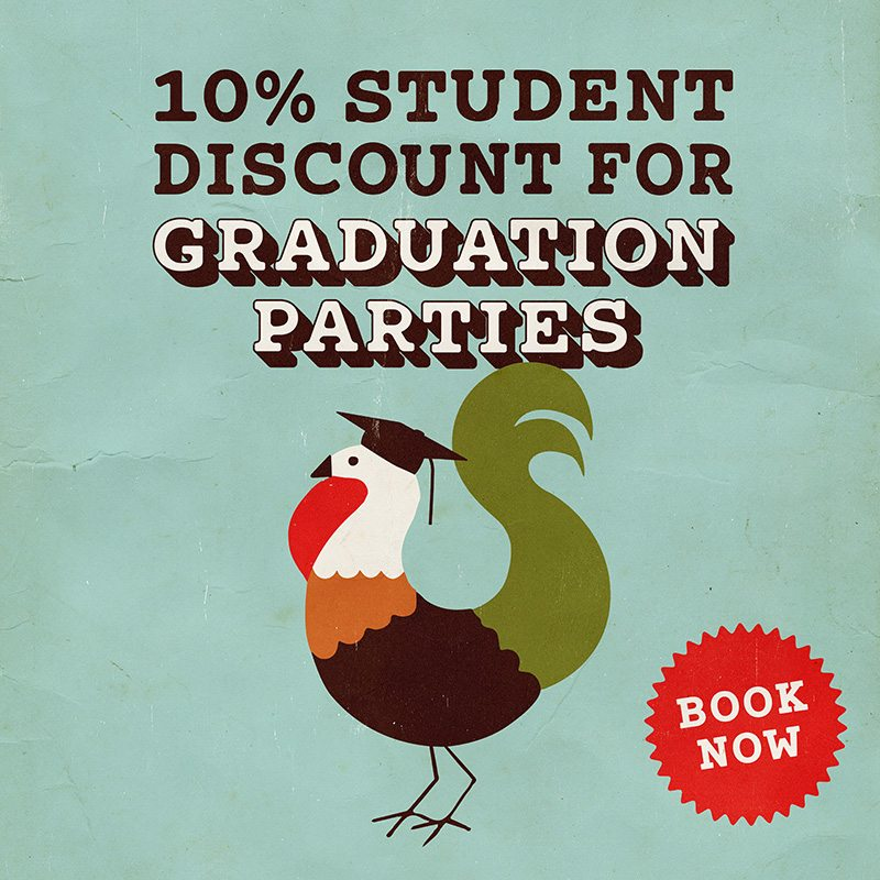 10% Student Discount For Graduation Parties