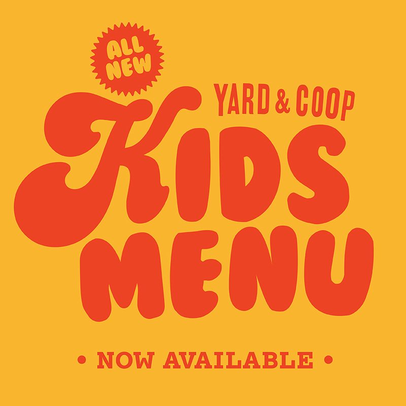 Yard and Coop Kids Menu